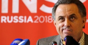 Russian Sports Minister Vitaly Mutko gives a press conference on November 30, 2010 in Zurich before his country's 2018 World Cup bid to world football's ruling body FIFA. England, Russia and joint bids by Spain-Portugal and Netherlands-Belgium are in the running to host the 2018 World Cup. FIFA will vote on the hosts on December 2, 2010.    AFP PHOTO / FABRICE COFFRINI