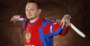 PITTSBURGH - FEBRUARY 03: Sergei Gonchar #55 of the Pittsburgh Penguins poses for a portrait in his Team Russia 2010 Olympic jersey on February 3, 2010 at Mellon Arena in Pittsburgh, Pennsylvania.   Gregory Shamus/Getty Images/AFP== FOR NEWSPAPERS, INTERNET, TELCOS & TELEVISION USE ONLY ==
